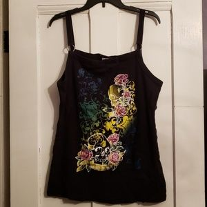Tops - Skull and Roses Plus Tank